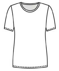 Выкройка блузки из трикотажа простого покроя