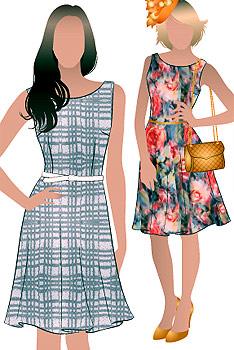Выкройка летнего платья из шифона