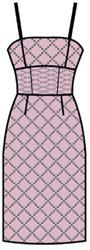 выкройка приталенного платья для коктейля