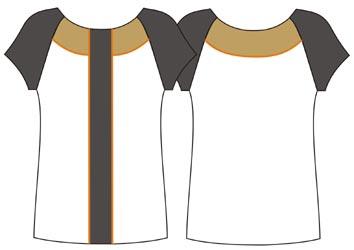выкройка блузки из трикотажа с рукавами реглан