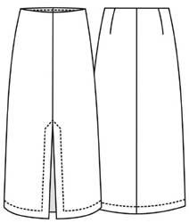 выкройка длинной юбки спортивного покроя