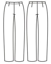 выкройка прямых брюк на резинке