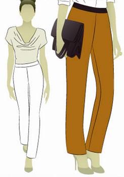 Выкройка женских зауженных брюк
