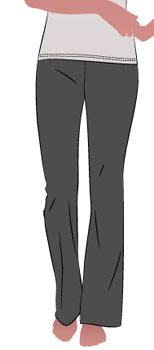Выкройка женских прямых брюк