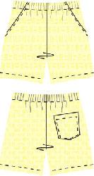 Выкройка мужских шорт
