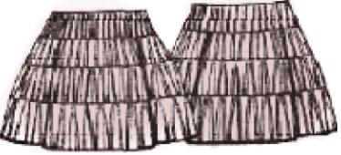 Выкройки юбок: юбка из трикотажа