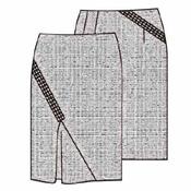 выкройка прямой юбки