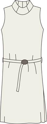 выкройка платья с горловиной водолазка без рукавов