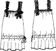 Выкройки платьев: сарафан мини