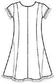 Платье для девочки, летняя выкройка