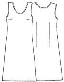 Выкройка простого платья без рукавов