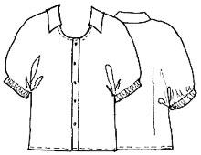 Выкройки блузок: блузка с цельнокроенными рукавами