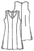 Выкройка женского пиджака с рельефом
