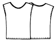 Выкройка простого топика