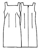 Как сшить прямое платье без выкройки своими
