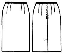 Выкройка прямой широкой юбки