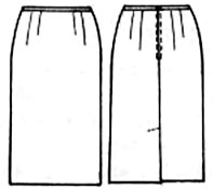 выкройки юбок бесплатно: юбка со шлицей