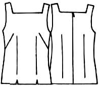 выкройки топов: приталенный топ на бретелях