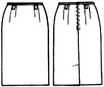 выкройки юбок бесплатно: юбка до колен