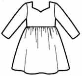 Выкройки платьев с длинным рукавом для девочек 2 лет