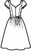 выкройки платьев: платье с рукавами фонарик