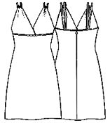 выкройки платьев: платье сотрезными чашечками на бретелях