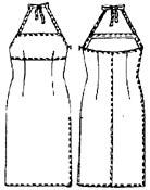 выкройки платьев: платье на бретельках