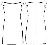 выкройки платьев: платье с горловиной лодочкой