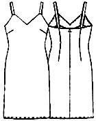 Платье с выкройкой на бретельках