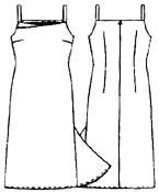 выкройки платьев: платье на тонких бретелях