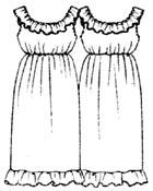 выкройки платьев: женское платье с оборкой