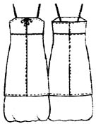 выкройки платьев: летнее платье с нижним слоем