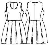 выкройки платьев: платье с юбкой в встречную складку