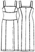 выкройка платья на широких бретелях