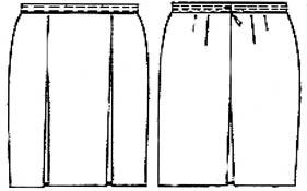 выкройка юбки мини