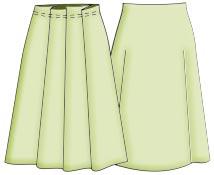 Бесплатные выкройки юбок со складками