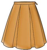 Бесплатные выкройки юбок: юбка с бантовыми складками