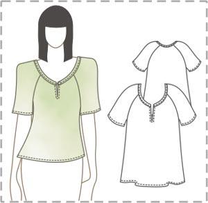 Простая выкройка лёгкой блузки