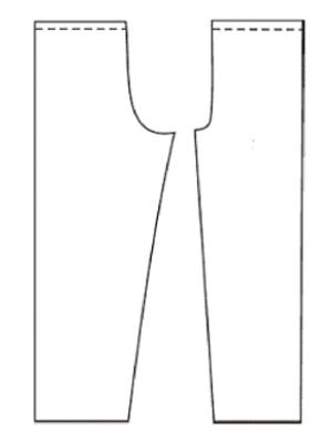 Сшить простые штаны на резинке 7
