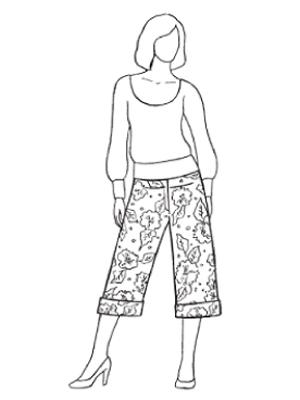Выкройки укороченных брюк