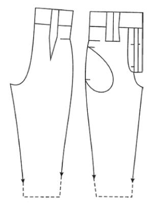 Выкройка галифе 139
