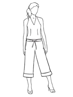 Выкройки женских брюк с поясом