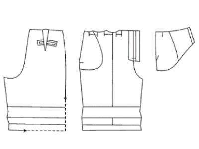 Выкройка шорт с отворотами