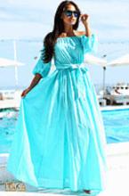 Выкройка платья летнего платья с рукавами реглан