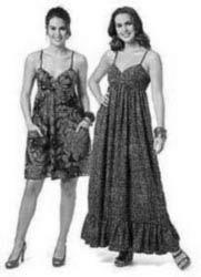выкройка платья на бретельках