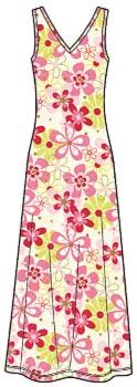 Выкройка платья из трикотажа длиной в пол