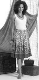 выкройка юбки в складку